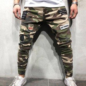 Мужские камуфляжные штаны Лоскутные Брюки Новый стиль Длинные брюки Slim Fit Брюки Gym Run Jogger Спорт Sweatpants