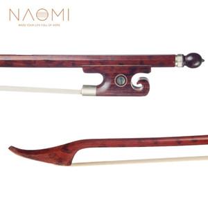 NAOMI Violin Bow Bow Snakewood Para 4/4 Violin W / Snakewood Paris Frog Olhos Bem Balance violino Peças Acessórios Novo
