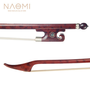NAOMI Скрипка Bow Bow Snakewood для 4/4 скрипки W / Snakewood Frog Парижа Глаз Ну Баланс Партия скрипка Аксессуары Нового