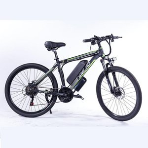 """C6 F Electric Bike E Bicycle 26"""" 27.5"""" 29"""" 4.0 inch Fat Tire ebike 350W 48V 10AH Electric Mountain Bicycle with 7 Speeds"""
