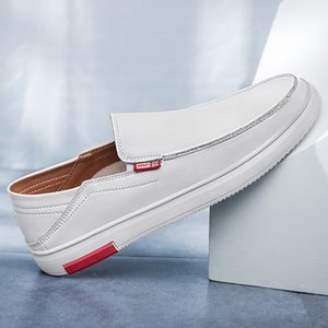 Men Loafers Shoes 2019 Fashion Autumn Pure Drive Footwear Boat Shoes New Male British Lazy Men's Casual