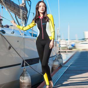 HISEA seac 1,5mm neopreno manga corta mujeres traje de buceo mono cuerpo completo buceo WetSuit Onepiece nadar mantener caliente Surf