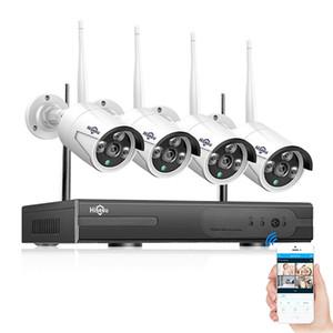 Mise à jour du modèle Hiseeu WNKIT - Ensemble de surveillance sans fil NVR 4H Quad de 2 Mégapixels
