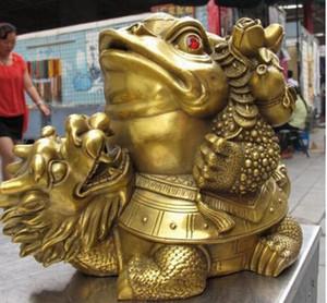 NUEVO + ++ 7 Chino Latón Cobre famoso Fen Dinero riqueza Dragón Tortuga Sapo Estatua