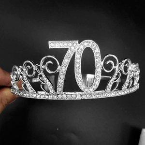Cabelo Acessórios Headband Banquet Anniversary Party Supplies Digital Hat Rhinestone Crown presente Decor Crystal Tiara Aniversário