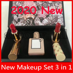 Горячий Новый макияж Парфюм губная помада 3 в 1 Bloom Perfume долговечны и с веществом мерцающий комплект помады подарочной коробке Christamas дар