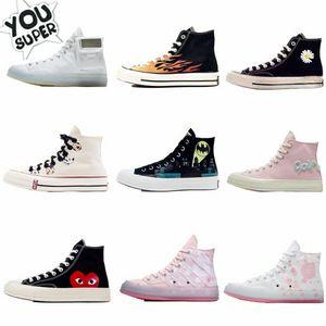 2020 Классический Golf Le Fleur х Chuck 70 Chenille Новые женщины Star Skateborad обувь Мода GLF 1970 High Pink Canvas Sneaker Размер 36-44