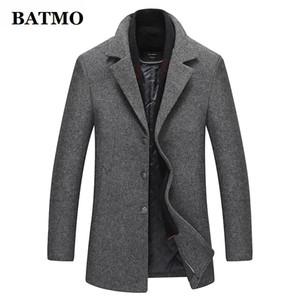 BATMO 2019 nouvelle arrivée automne hiver de haute qualité en laine trench-coat décontracté hommes, vestes en laine pour hommes plus-taille 1225