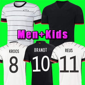 TOP 독일 2020 축구 유니폼 홈 키트 HUMMELS KROOS 드락 슬러 레 우스 MULLER GOTZE KIMMICH 도겐 (20) (21) 축구 셔츠 유니폼 남자 아이 키트