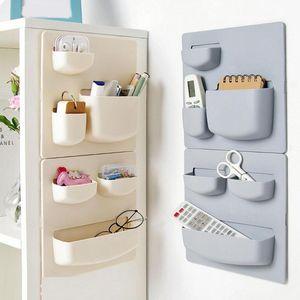 Kunststoff selbstklebend Küche Kühlschrank Kühlschrank Storage Rack Organizer Reinigungsschwamm, Gemüse, Obst Home Küchenzubehör