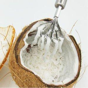 Aço inoxidável coco Planer coco raspador Meat escala de peixes Planer legumes Fruit Planer Ferramentas Gadgets Cozinha