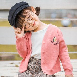 2020 Girl Baby Embroidery solid color Sweater Cardigan Coat Girls Kids Jacket Children winter Coats Clothes