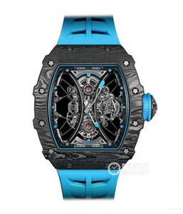 Orologio da uomo di qualità 3A di alta qualità. Materiale in fibra di carbonio PTT, serie rm53-01.48 mm. Specchio zaffiro. Movimento giapponese completamente automatico