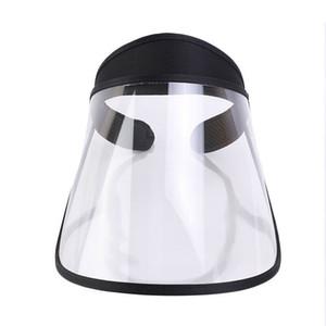 Épidémie extérieur Protection Chapeau Bouclier visage réglable anti-crachement de protection Chapeau Couverture visage été pêcheur Visor Noir