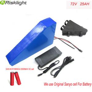 batteria al litio 72V 25Ah della batteria elettrica della bici pacchetto potente 3000w 72v triangolo eBike batteria con il sacchetto del triangolo per Sanyo cellulare