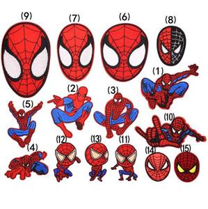 Patch 3D brodé 8P-56 dessin animé Spider-Man Iron sur des patchs pour patch Patch punk garanti coudre sur le brassard