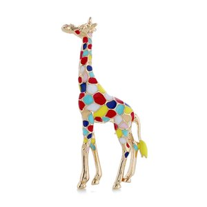 Blow-out color oil-dripping giraffe Brooch exaggerates men's and women's Brooches