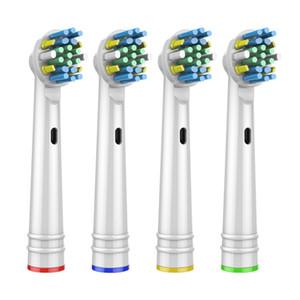 4шт замены насадки для Oral B Электрическая зубная щетка перед включением / Pro здоровья / Triumph / 3D Excel / чистой прецизионной живучести