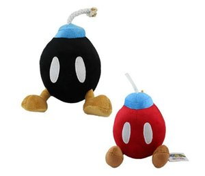Super Mario Bros BOMB 2 colors Cute Soft Plush BOB-OMB Doll Toy (2 colors) 7""