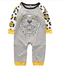 En iyi Bebek Erkek Kız Tulum Tasarımcı Çocuk Bebek Uzun Kollu Pamuk Tulumlar Bahar Sonbahar Kız Erkek Giyim