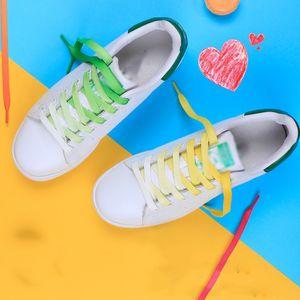 1Pair Fashion Rainbow Shoelace Flat Canvas Athletic Shoe Accessories Sport Sneaker Colorful Shoe Laces Strings