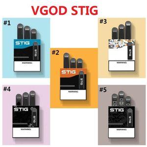 Vape Pen Hot Vgod Stig Pod Kit penna Vape monouso 270mAh Batteria completamente carica con capacità di 1,2 ml Capacità E-Cig Kit