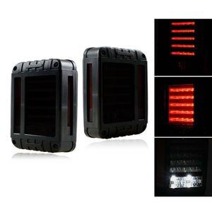 12V Smoked LED Tail Lights For Jeep Wrangler JK JKU Sports, Sahara, Freedom Rubicon 2007 - 2016