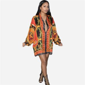 Новые летние женские блузки с отворотом шеи рубашки свободные красные женские платья женская модная одежда новое поступление