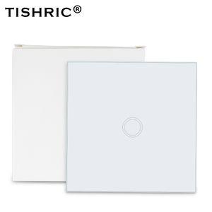 Smart Home Automation Módulos TISHRIC 86 Tipo 433MHz RF remoto do painel de vidro Touch Control LED Wall Luz interruptor WiFi sem fio Smart Home