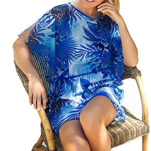 11 Styles Beach Dress Womens Floral Impresso oco soltas Beachwear Swimwear Cover Up Sexy Baggy Bikini Beach Wear Lace encobrir