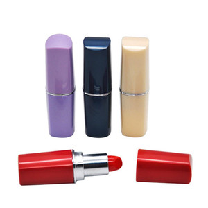 Lipstick Shape Pill Bottle Snuff Snorter Stash Pill Box Pill Case Hookah Smoking Pipe for Dabs Rigs Container Plastic Bins Box 7.5*1.8cm