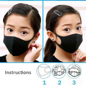Veloce Maschera bocca del bambino di trasporto per i bambini Anti Haze polvere lavabile Donna Uomo Bambino Bambino antipolvere Bocca-muffola Inverno Maschera maschere per il viso di protezione