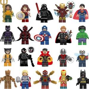 Wholsale super héroe mini figuras mujer Marvel Avengers DC Liga de la Justicia Wonder Ironman Batman Spiderman construcción de bloques de los niños regalos