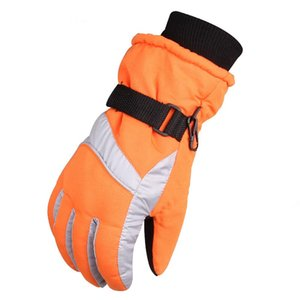 1 Pair Waterproof Snowboard Outdoor Insulated Winter Thickened Adjustable Anti Slip Warm Windproof Cycling Ski Gloves Men Women