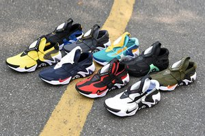 Adaptar Huarache corredor azul zapatos corrientes de la marina de guerra de los hombres Negro Blanco huaraches de aire zapatillas de deporte de los diseñadores Huraches Marca Huarache Formadores size40-45