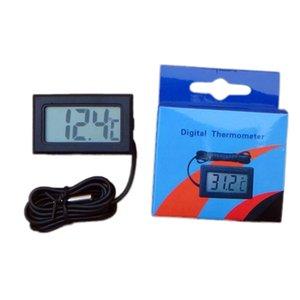 Neue Thermometer Qualitäts-Celsius-Digital-Thermometer Aquarium Kühlwagen CPU Simmer Temperature Detector schwarz