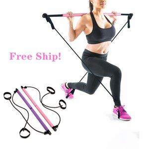 Yoga Pull Canne domestico portatile di yoga Fasce Palestra Corpo resistenza addominale per Pilates Exercise Stick Toning Bar Fitness corda Puller