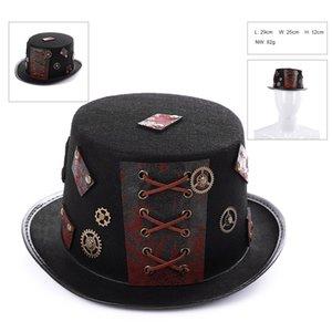 New Fashion Medieval Vapor Punk Chapéus do partido do carnaval do vintage do Dia das Bruxas Cosplay Prop Chapéus Anime Costume Party Pirate Hat Caps Party Supplies