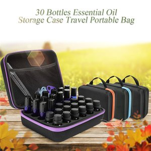 Uçucu Yağ Durumda 30 Şişeler 5 ML 10 ML 5 ML Parfüm Yağı Uçucu Kutusu Seyahat Taşınabilir Taşıma Tutucu Oje Saklama Çantası