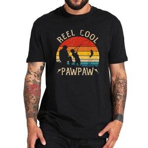 Reel Cool Pawpaw Shirt Funny Fishing Tshirt Gift Tee Soft 100% Cotton Digital Printing T Shirt Dad Summer Tops