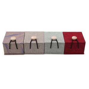 Персонализированные подарочные коробкиRustic Wedding Wood Ring Box держатель на заказ обручальное кольцо на предъявителя квадратная шкатулка аксессуары