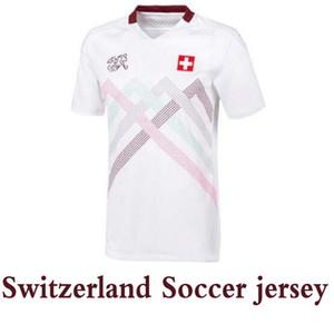 NUEVO 2020 equipo nacional de fútbol de Suiza casero Jersey camisa ausente Seferovic FREULER Shaqiri LANG émbolo BEHRAMI hombres kit niños de fútbol