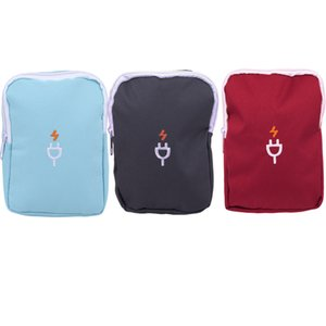 Travel Electronic Accessories Storage Bag Headset Charger Data Cable Bag Unisex Pouch Oxford Cloth