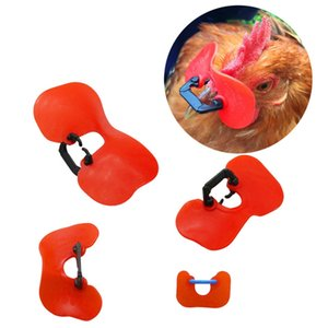 200Pcs New No Bolt chicken glasses Red High Quality Soft Plastic Glasses Anti-pecking Goggles Farm Equipment Wholesale