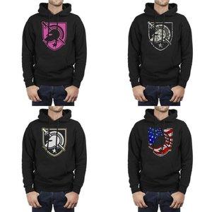 Moda Hombres New York Army Black Knights fútbol rosa cáncer de mama negro Fleece Sudadera Personalizada Banda gráfica Sudaderas con capucha Stroke
