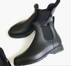 Sıcak Satış-Yeni Moda kadınlar Jöle Ayak Bileği Yüksek Martin U Yağmur Çizmeleri Kısa Siyah Kauçuk Wellies Yağmur ayakkabı damla nakliye