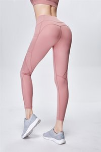 Competition Freeshipping Cod Fashion Cotton Woman Yoga Pant Womens Solid Color High Waist Leggings Tight Sports Casual Yoga Pants