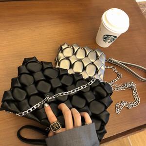 Sexy Ladies Black Silver Day Clutch Borse da sera Partito Frizioni Borse da donna Chain Borse a tracolla tridimensionale tridimensionale 311