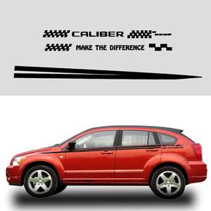 Etiqueta do carro Para Dodge Caliber Car Side Corpo Decalques de Vinil Truck Veículo Corpo Decoração Acessórios Preto Ou Branco