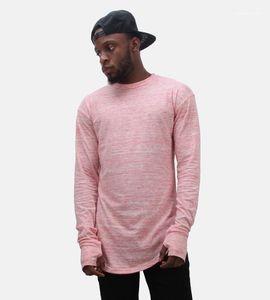 Guantes de las camisetas de manga larga Diseño O-cuello que basa de Hiphop de rap de la calle Tops palangre del diseñador del Mens